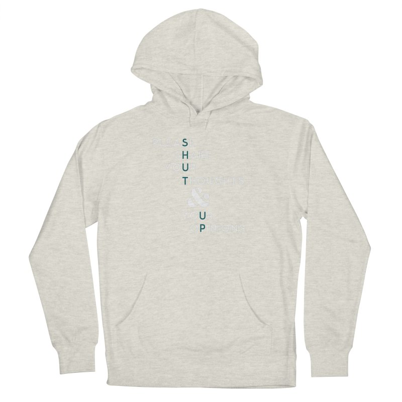 Please & Thank You Men's French Terry Pullover Hoody by Katie Rose's Artist Shop