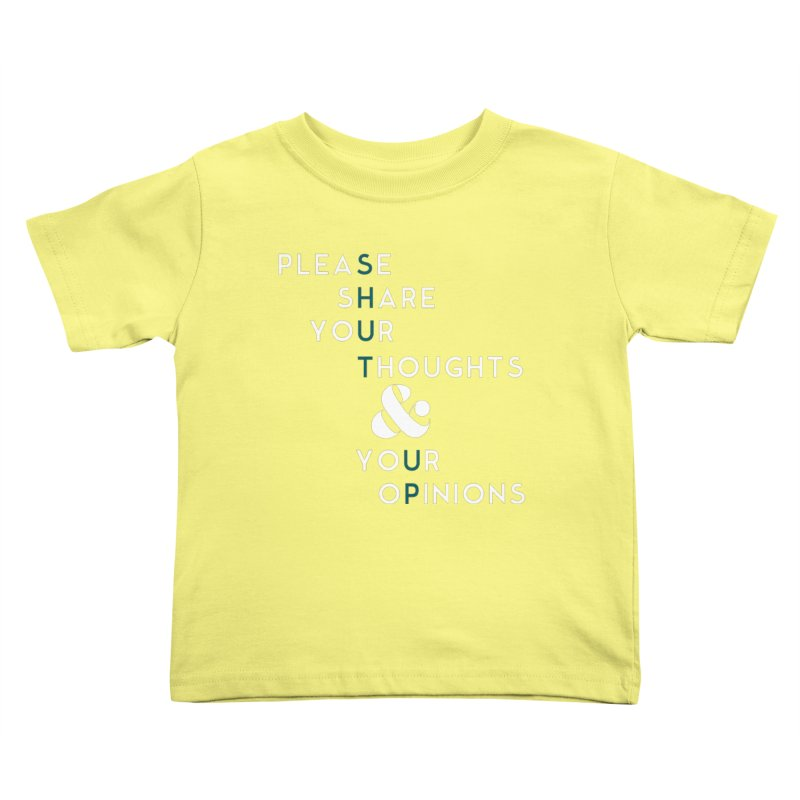 Please & Thank You Kids Toddler T-Shirt by Katie Rose's Artist Shop