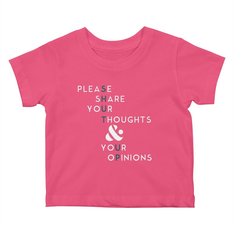 Please & Thank You Kids Baby T-Shirt by Katie Rose's Artist Shop