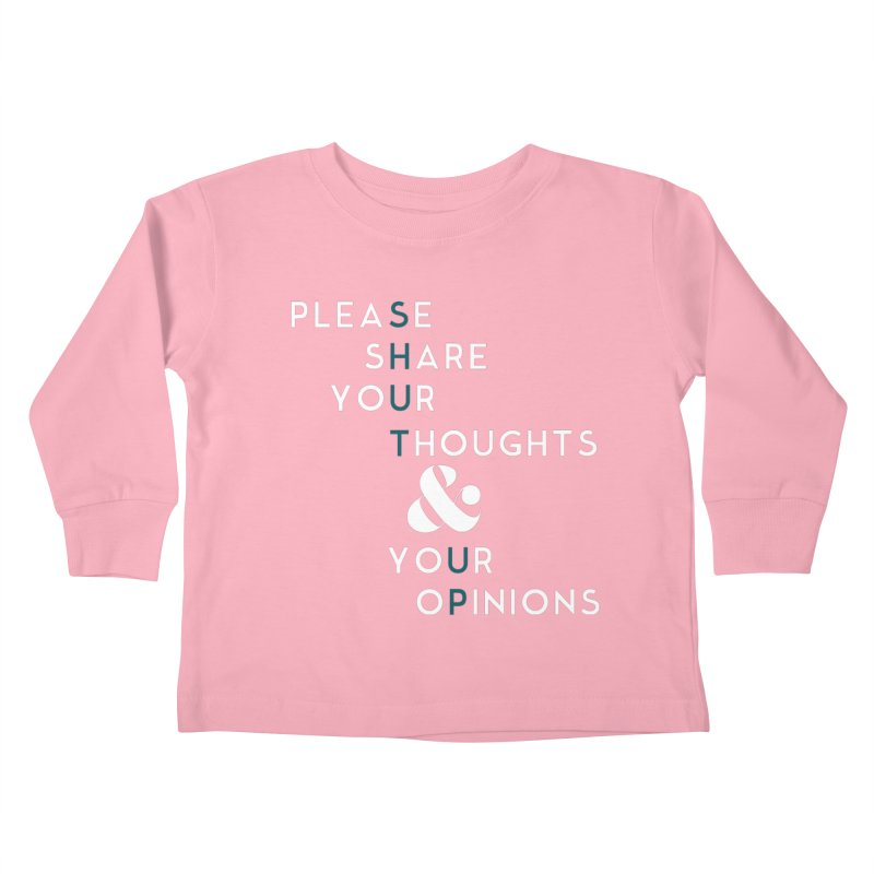 Please & Thank You Kids Toddler Longsleeve T-Shirt by Katie Rose's Artist Shop