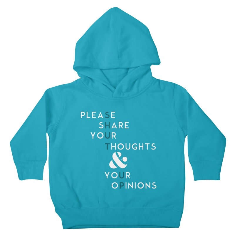 Please & Thank You Kids Toddler Pullover Hoody by Katie Rose's Artist Shop