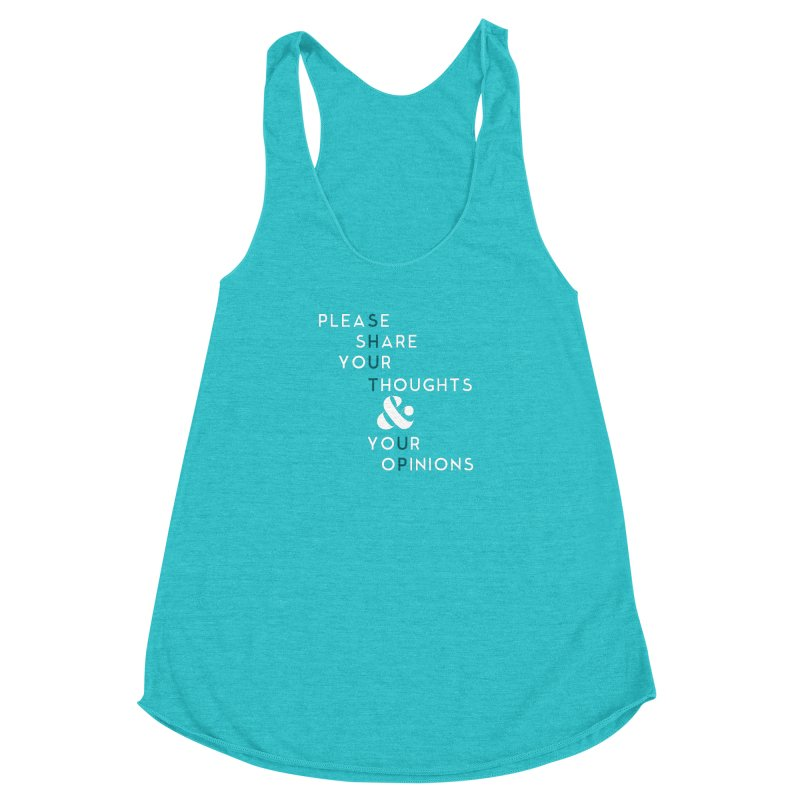 Please & Thank You Women's Racerback Triblend Tank by Katie Rose's Artist Shop