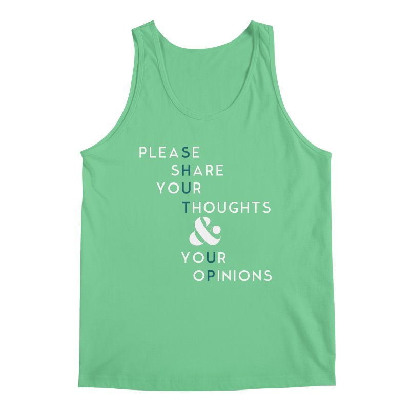 Please & Thank You Men's Regular Tank by Katie Rose's Artist Shop