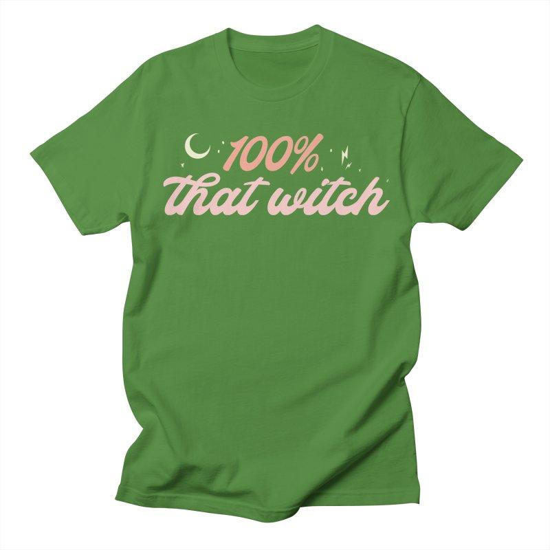 100% That Witch Women's Regular Unisex T-Shirt by Katie Rose's Artist Shop