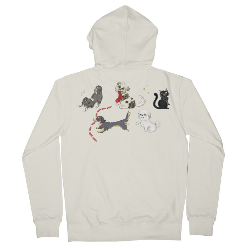 The Pack Women's French Terry Zip-Up Hoody by Katie Rose's Artist Shop