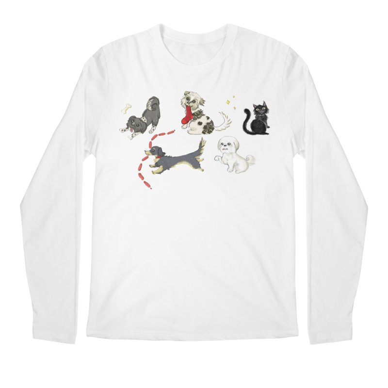 The Pack Men's Regular Longsleeve T-Shirt by Katie Rose's Artist Shop