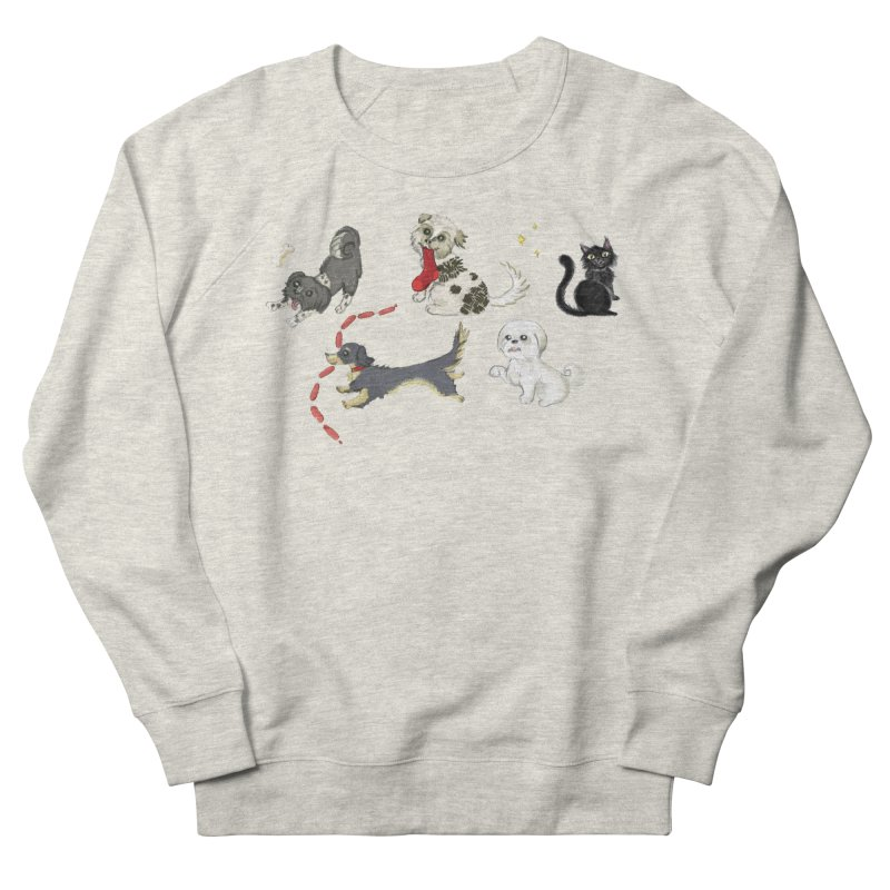The Pack Men's French Terry Sweatshirt by Katie Rose's Artist Shop