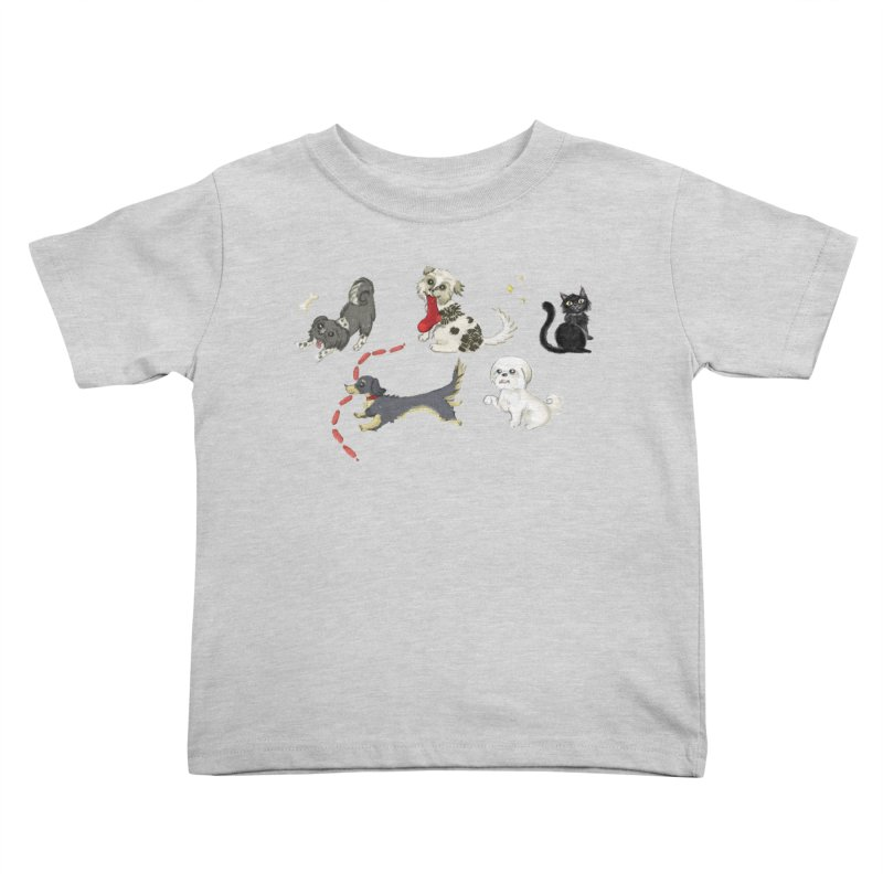 The Pack Kids Toddler T-Shirt by Katie Rose's Artist Shop