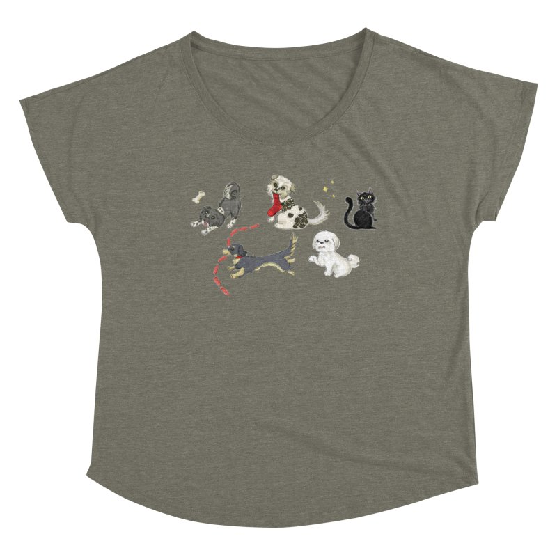 The Pack Women's Dolman Scoop Neck by Katie Rose's Artist Shop