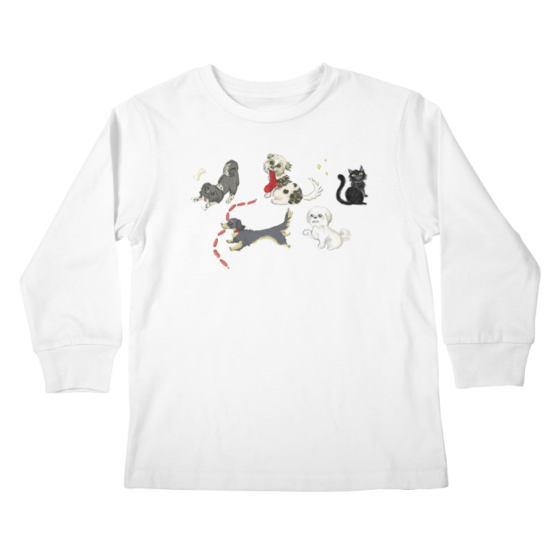 The Pack Kids Longsleeve T-Shirt by Katie Rose's Artist Shop