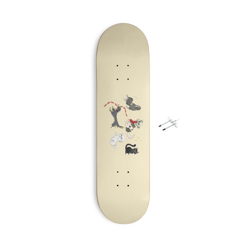 The Pack Accessories With Hanging Hardware Skateboard by Katie Rose's Artist Shop