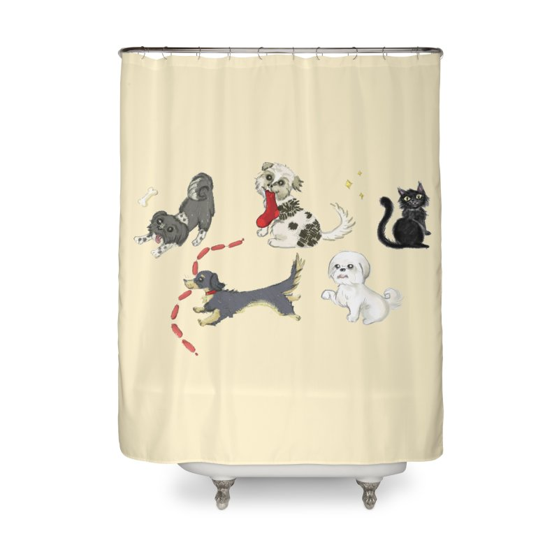 The Pack Home Shower Curtain by Katie Rose's Artist Shop