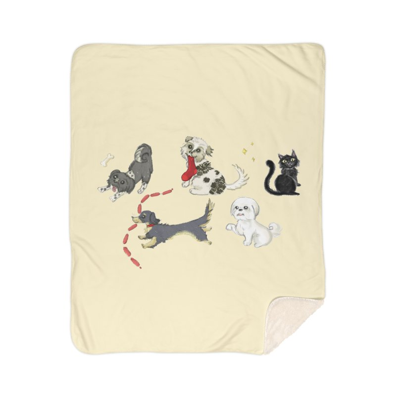 The Pack Home Sherpa Blanket Blanket by Katie Rose's Artist Shop