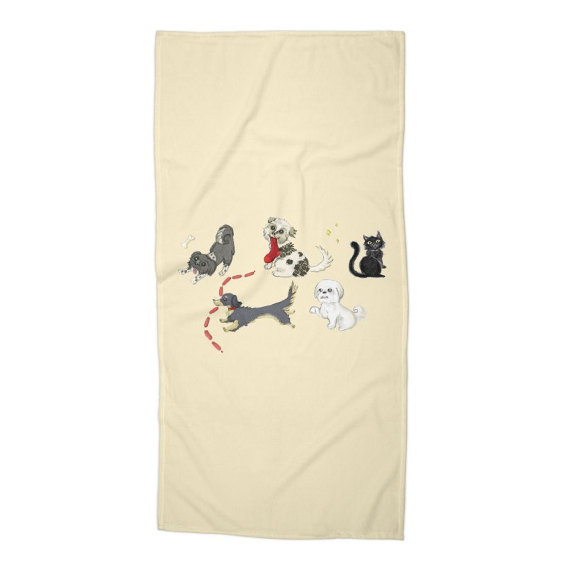 The Pack Accessories Beach Towel by Katie Rose's Artist Shop