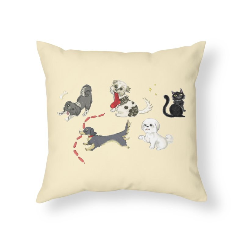 The Pack Home Throw Pillow by Katie Rose's Artist Shop