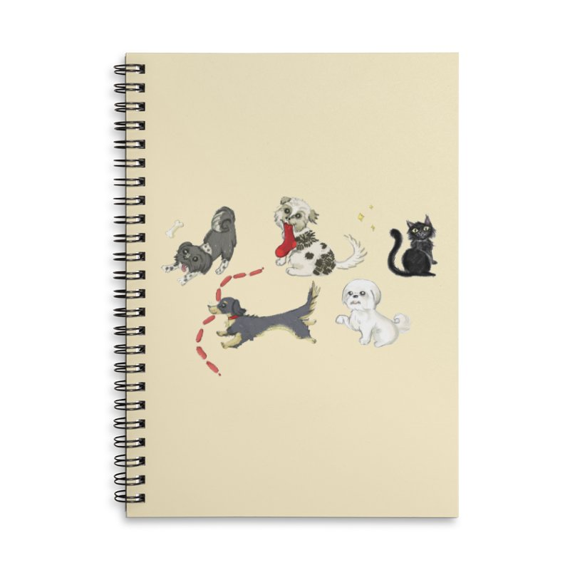 The Pack Accessories Lined Spiral Notebook by Katie Rose's Artist Shop