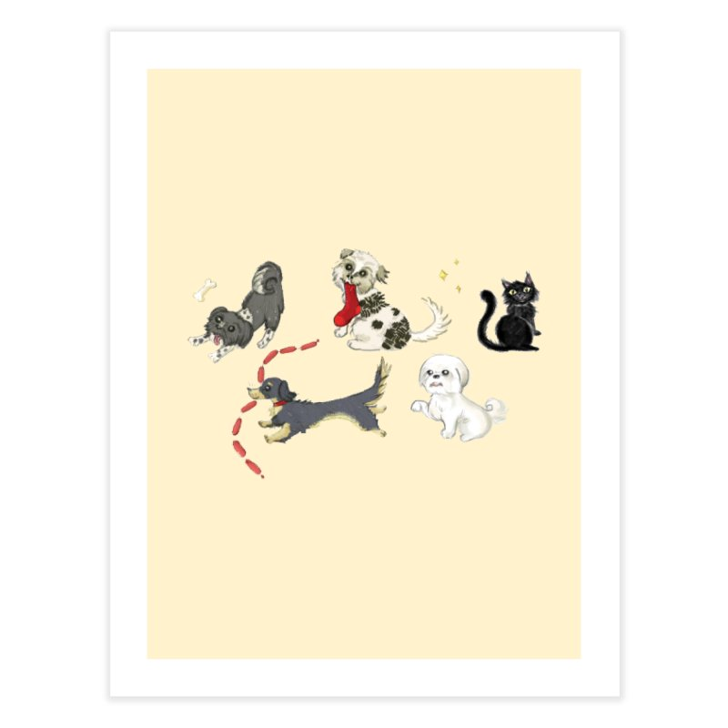 The Pack Home Fine Art Print by Katie Rose's Artist Shop