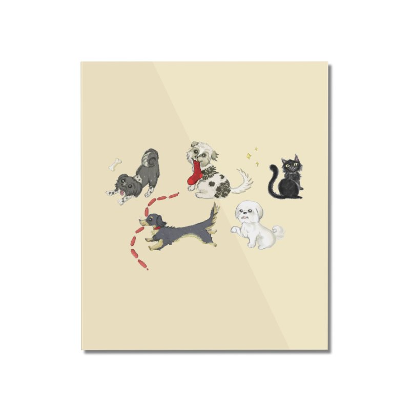 The Pack Home Mounted Acrylic Print by Katie Rose's Artist Shop