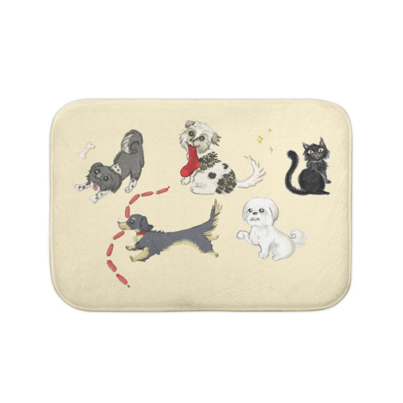 The Pack Home Bath Mat by Katie Rose's Artist Shop
