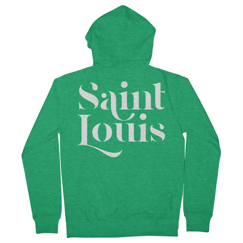 SAINT LOUIS Men's Zip-Up Hoody by Katie Rose's Artist Shop