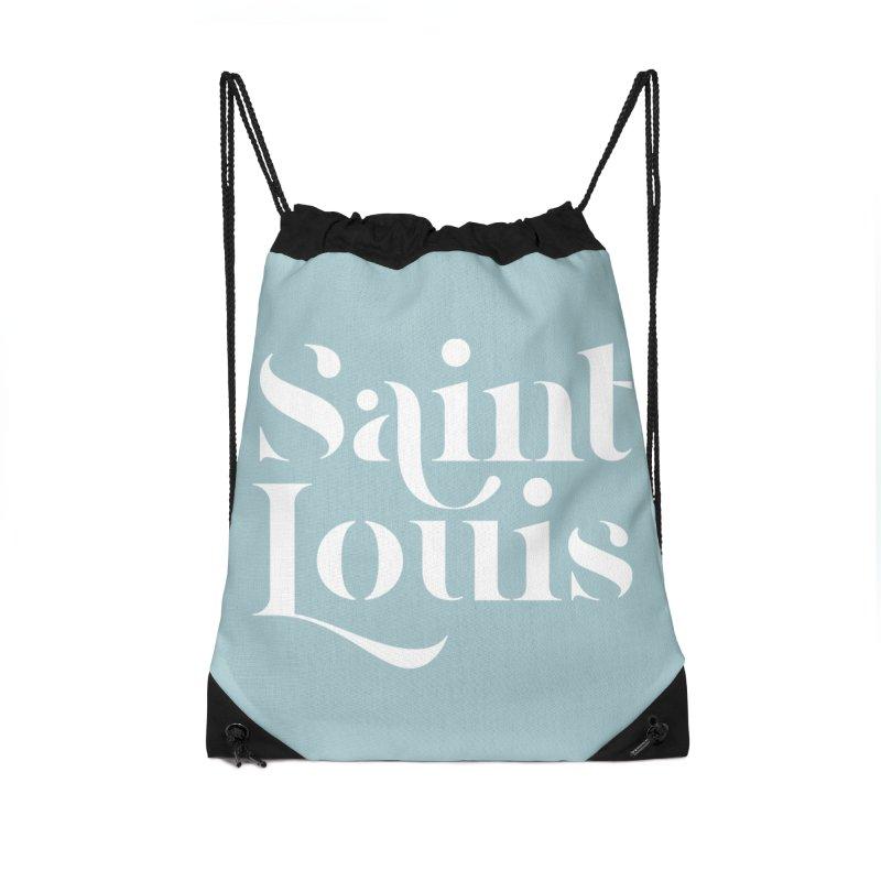 SAINT LOUIS Accessories Drawstring Bag Bag by Katie Rose's Artist Shop