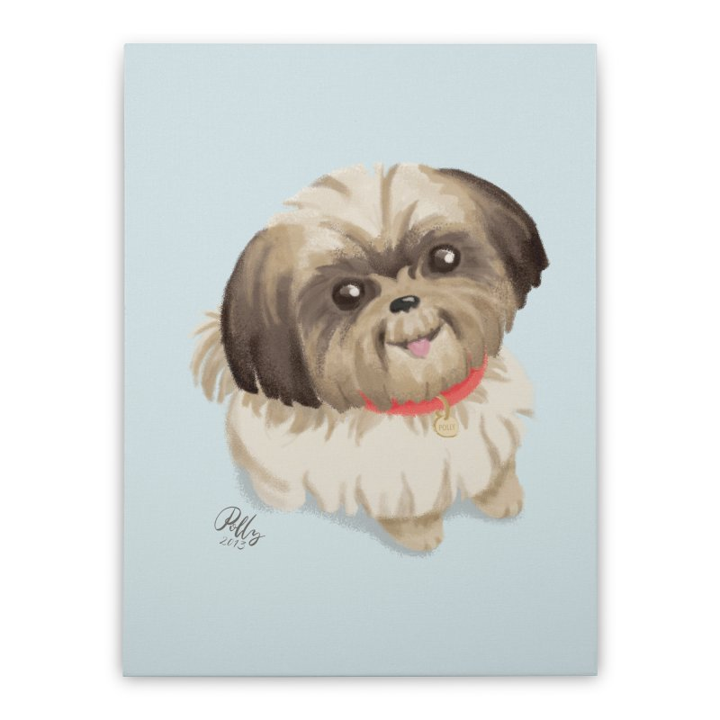 Polly Home Stretched Canvas by Katie Rose's Artist Shop