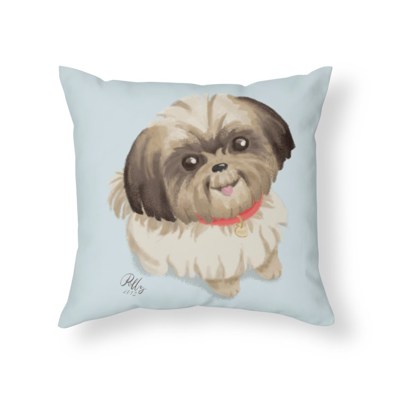 Polly Home Throw Pillow by Katie Rose's Artist Shop
