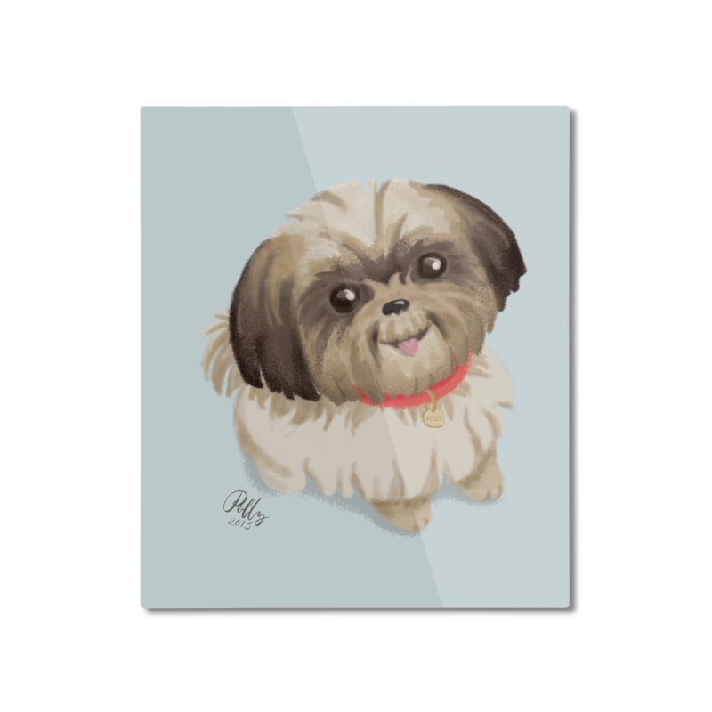 Polly Home Mounted Aluminum Print by Katie Rose's Artist Shop