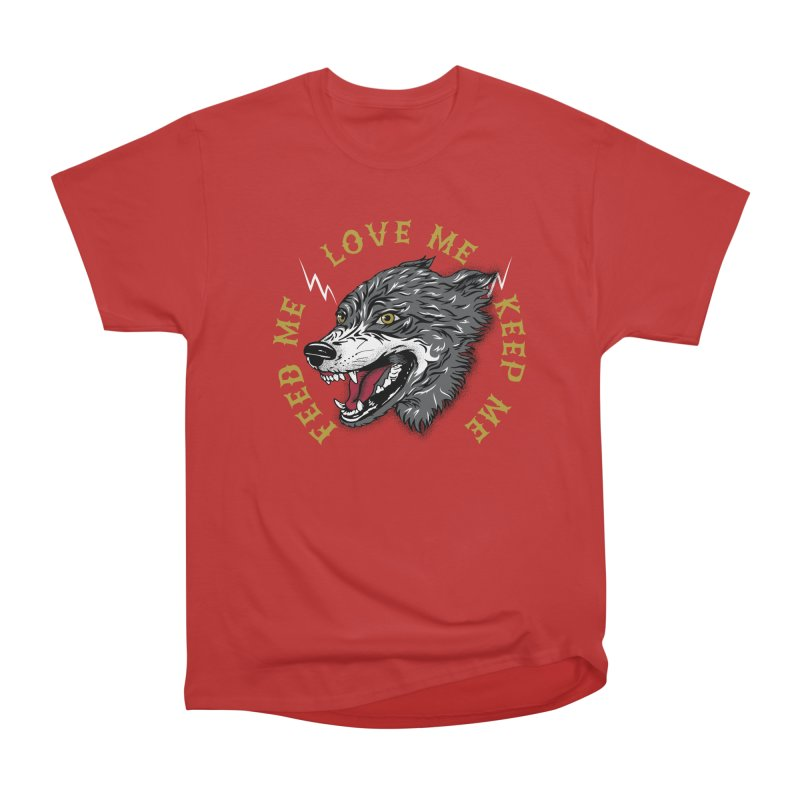 Feed Me Wolf Men's Heavyweight T-Shirt by Katie Rose's Artist Shop