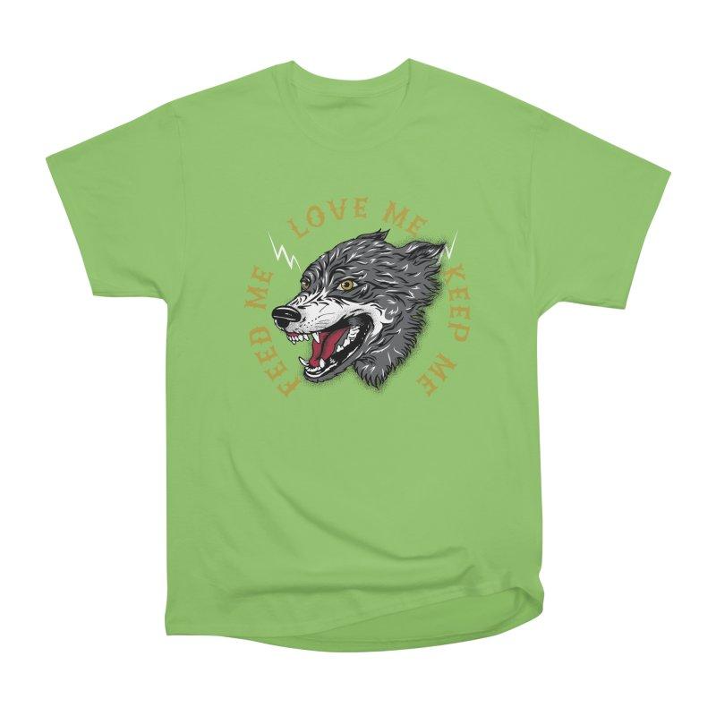Feed Me Wolf Women's Heavyweight Unisex T-Shirt by Katie Rose's Artist Shop