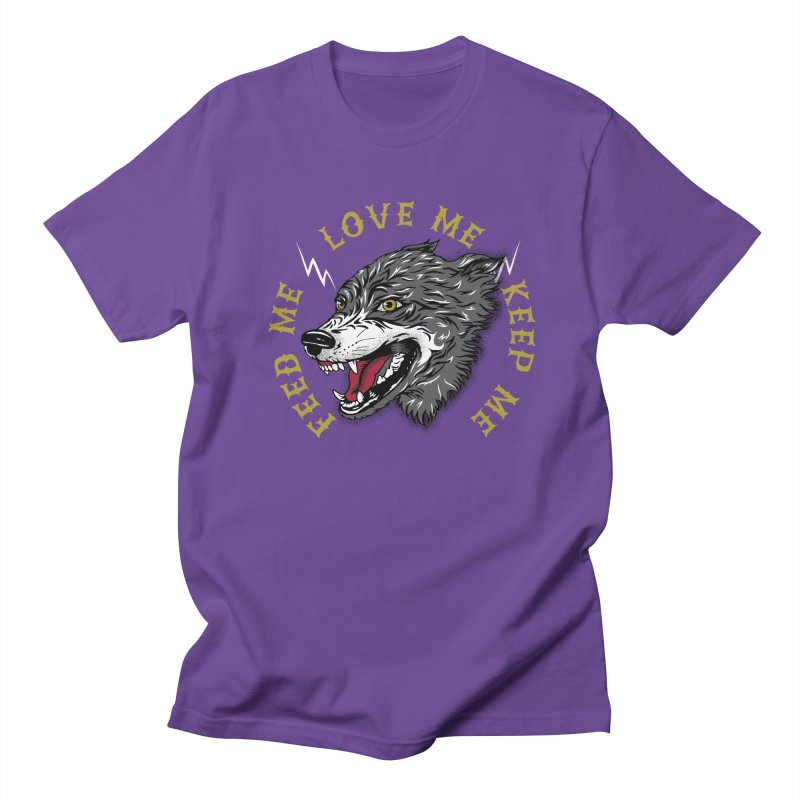 Feed Me Wolf Men's Regular T-Shirt by Katie Rose's Artist Shop
