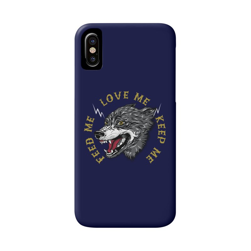 Feed Me Wolf Accessories Phone Case by Katie Rose's Artist Shop