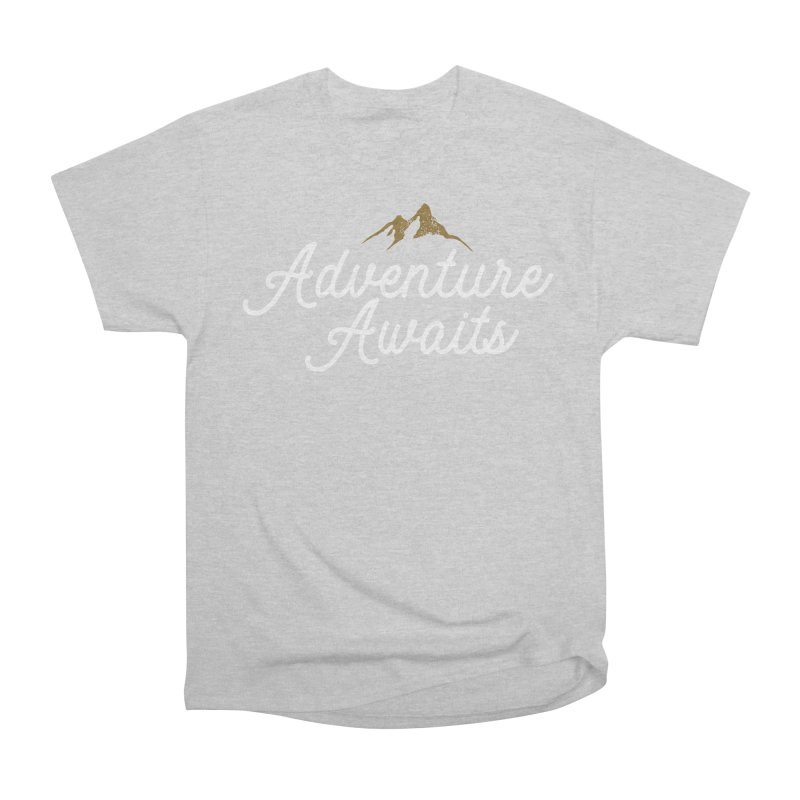 Adventure Awaits Women's Heavyweight Unisex T-Shirt by Katie Rose's Artist Shop