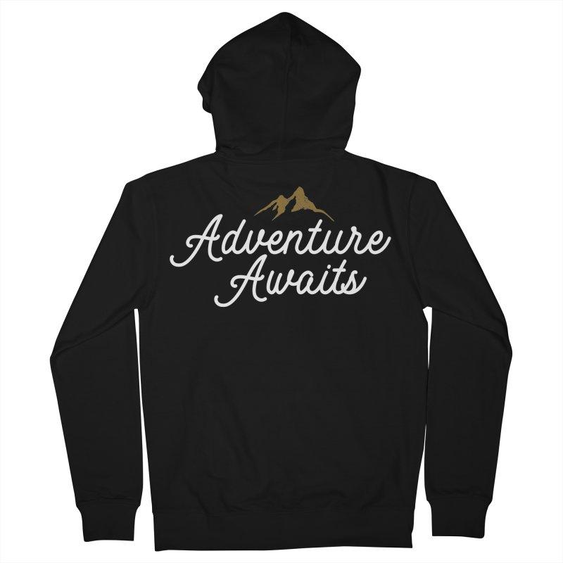 Adventure Awaits Men's French Terry Zip-Up Hoody by Katie Rose's Artist Shop