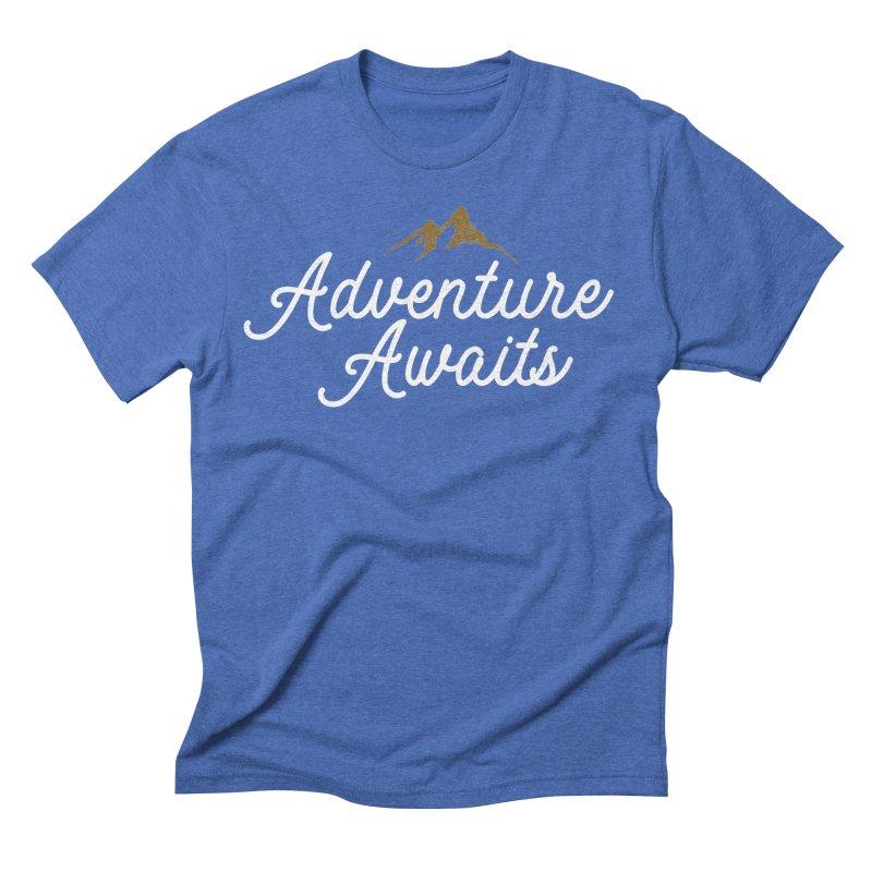 Adventure Awaits Men's Triblend T-Shirt by Katie Rose's Artist Shop