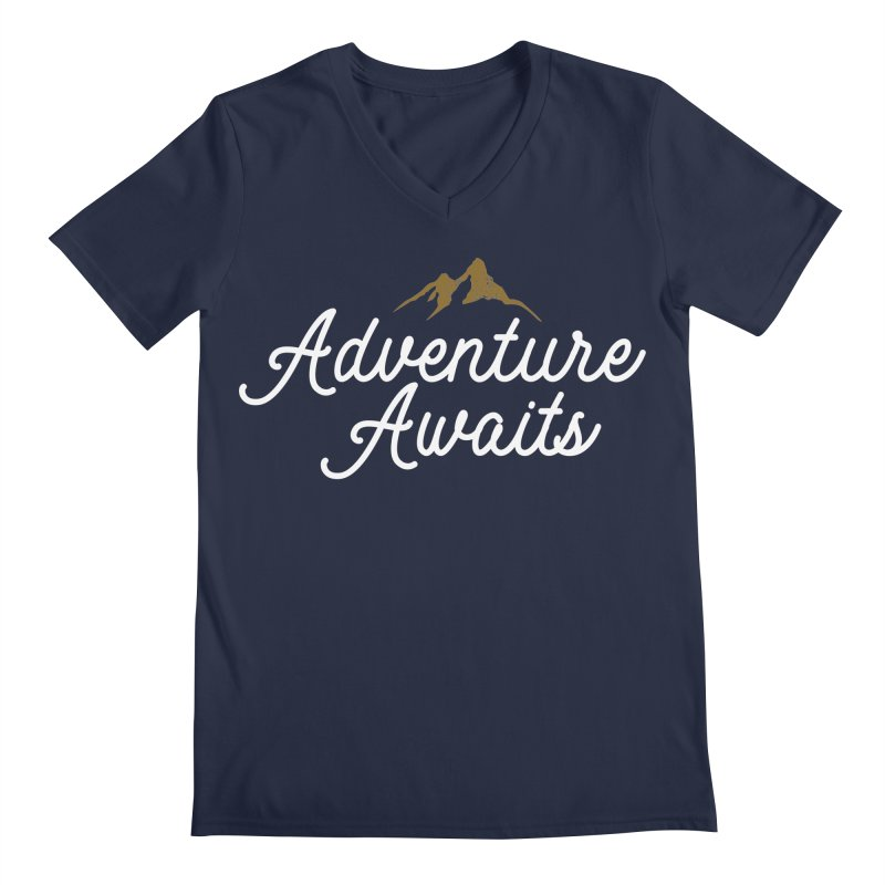 Adventure Awaits Men's Regular V-Neck by Katie Rose's Artist Shop
