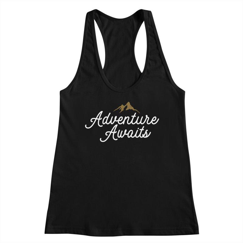 Adventure Awaits Women's Racerback Tank by Katie Rose's Artist Shop