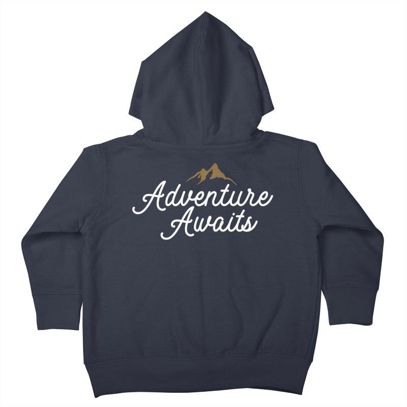 Adventure Awaits Kids Toddler Zip-Up Hoody by Katie Rose's Artist Shop
