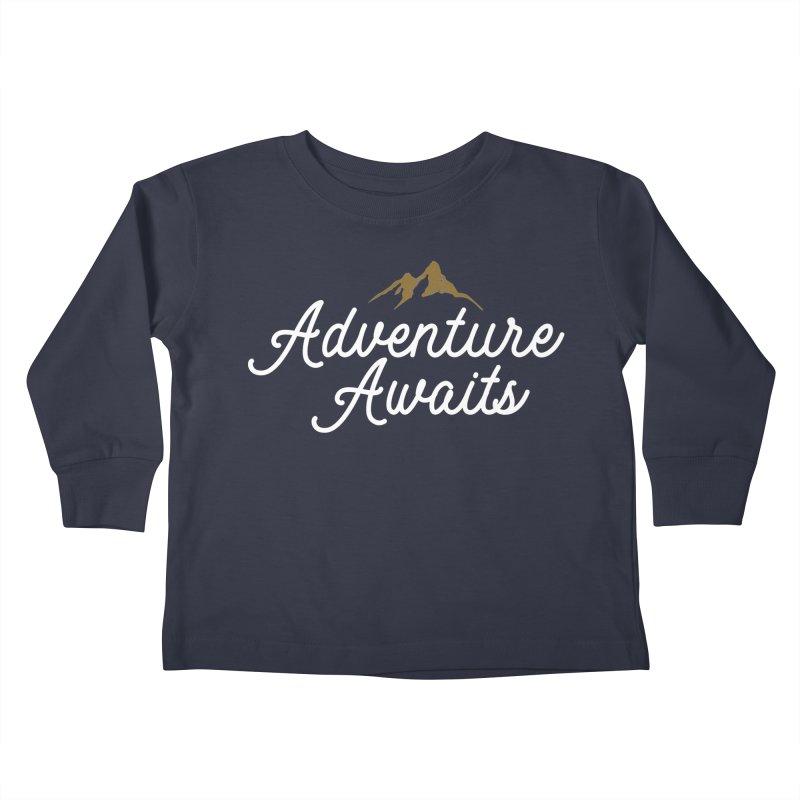 Adventure Awaits Kids Toddler Longsleeve T-Shirt by Katie Rose's Artist Shop