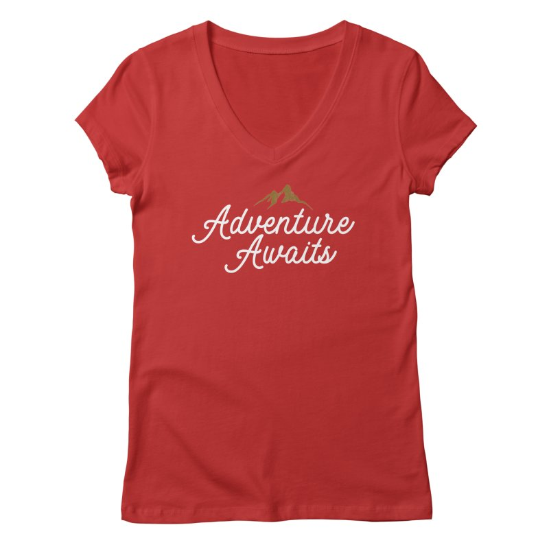Adventure Awaits Women's Regular V-Neck by Katie Rose's Artist Shop
