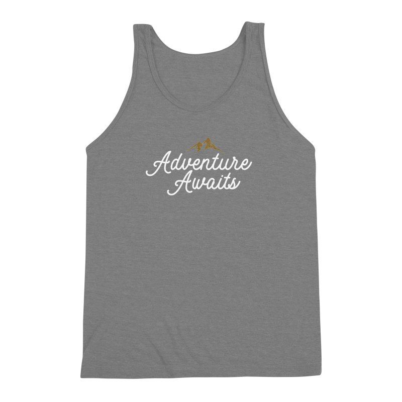 Adventure Awaits Men's Triblend Tank by Katie Rose's Artist Shop