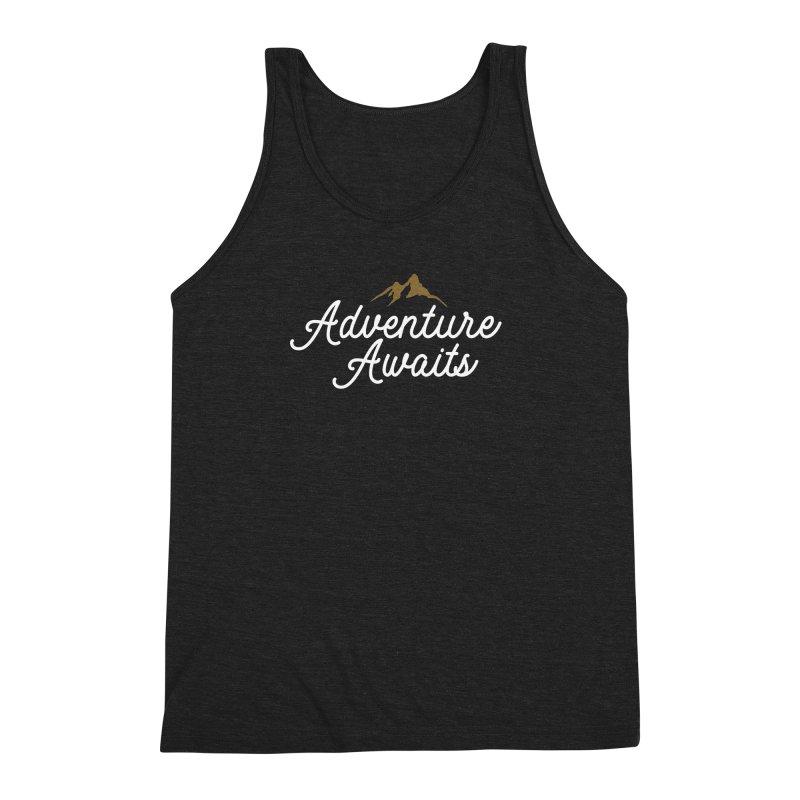 Adventure Awaits Men's Triblend Tank by Katie Rose's Artist Shop