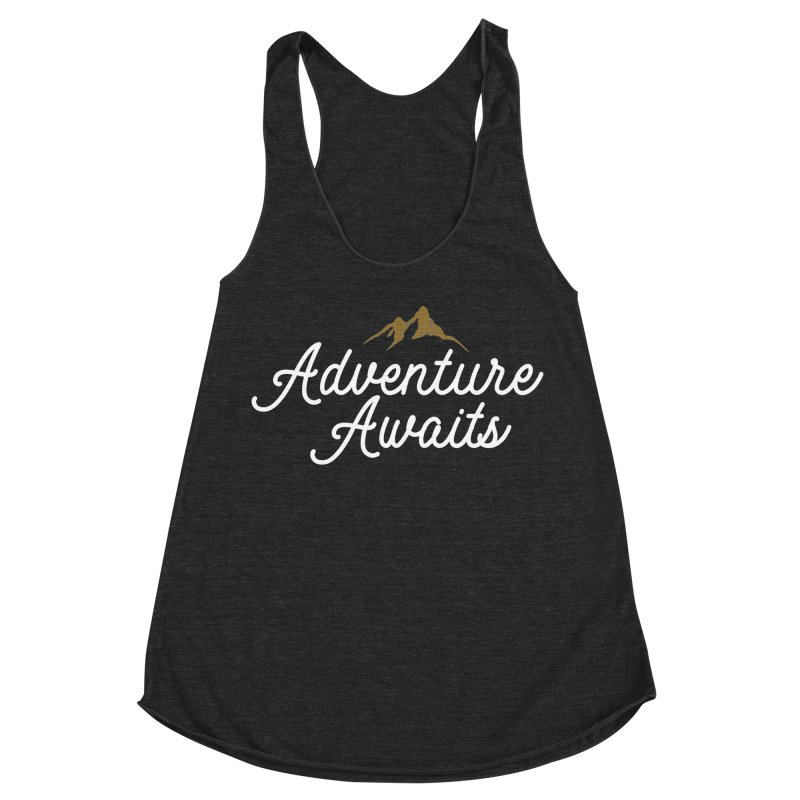 Adventure Awaits Women's Racerback Triblend Tank by Katie Rose's Artist Shop