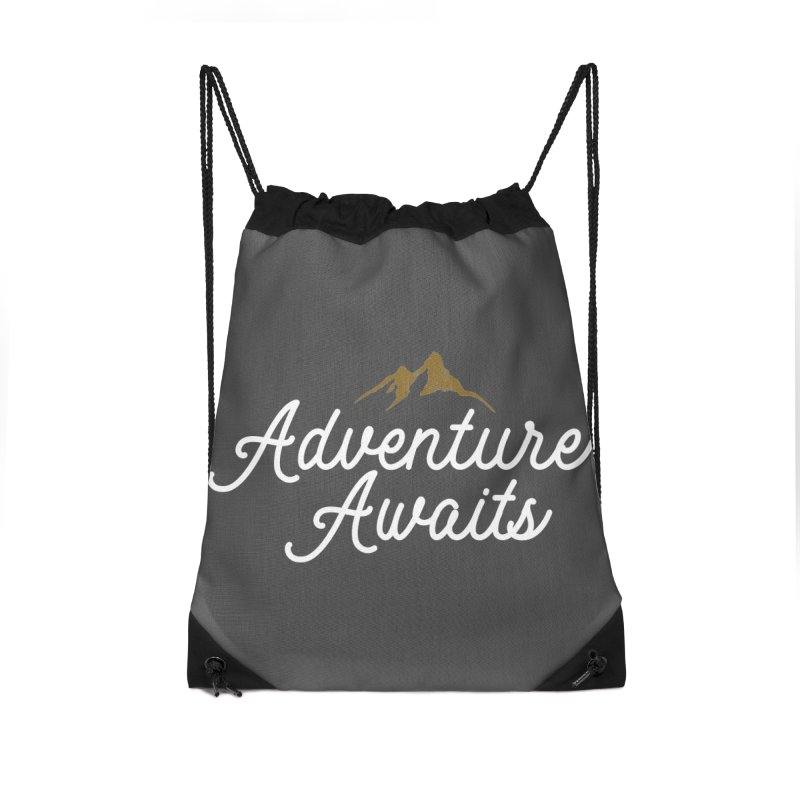 Adventure Awaits Accessories Drawstring Bag Bag by Katie Rose's Artist Shop