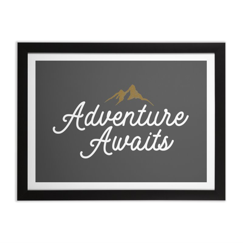 Adventure Awaits Home Framed Fine Art Print by Katie Rose's Artist Shop