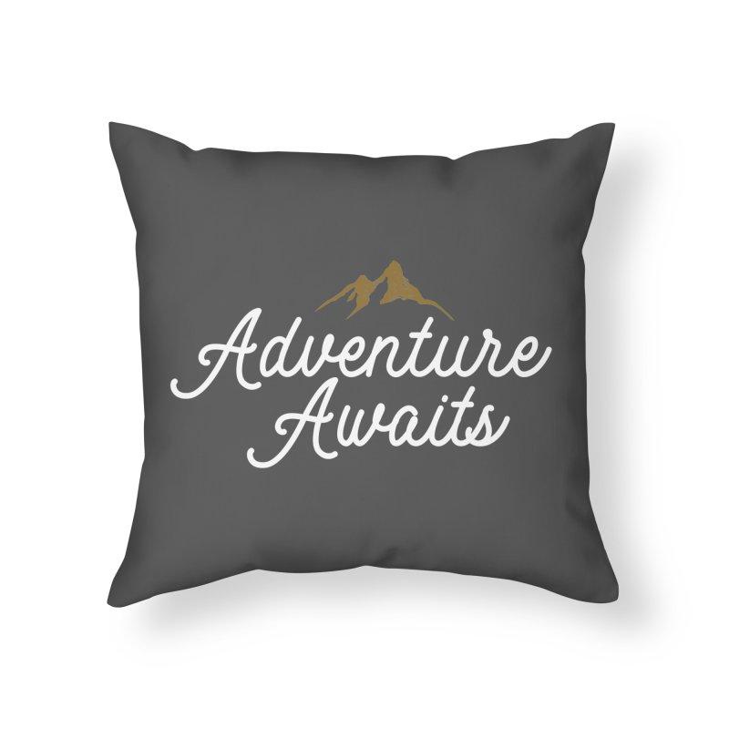 Adventure Awaits Home Throw Pillow by Katie Rose's Artist Shop