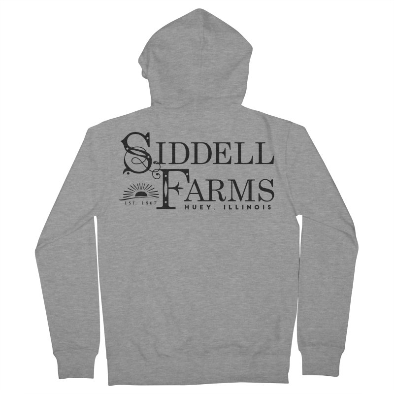 Siddell Farms Men's French Terry Zip-Up Hoody by Katie Rose's Artist Shop