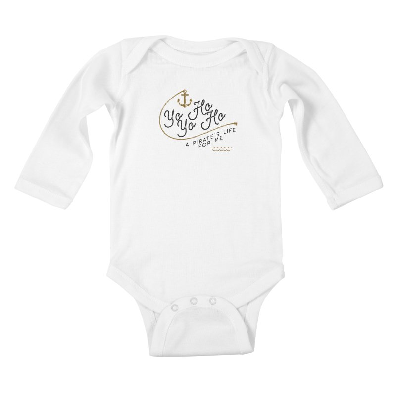 Pirate's Life for Me Kids Baby Longsleeve Bodysuit by Katie Rose's Artist Shop