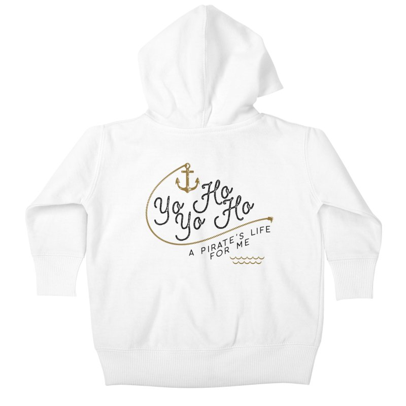 Pirate's Life for Me Kids Baby Zip-Up Hoody by Katie Rose's Artist Shop