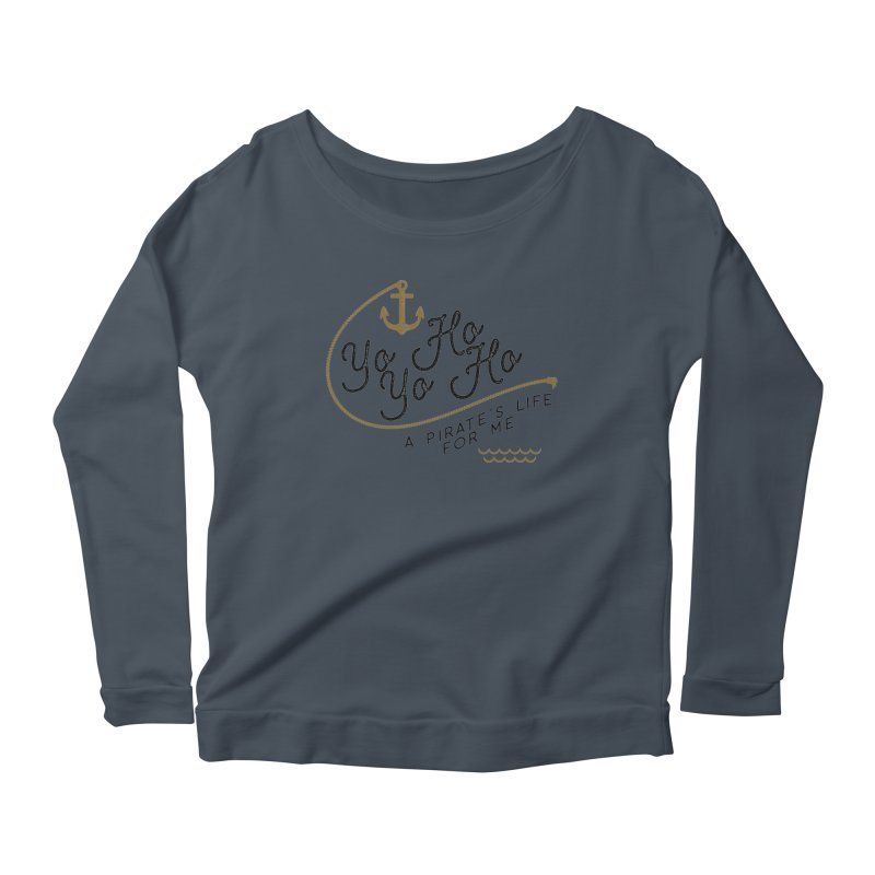 Pirate's Life for Me Women's Scoop Neck Longsleeve T-Shirt by Katie Rose's Artist Shop